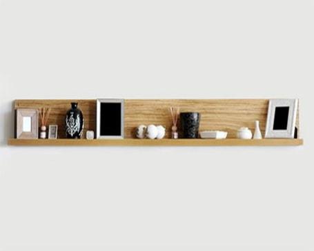 Room sensor positioned on a shelf