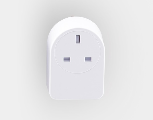 Front facing image of a smart plug